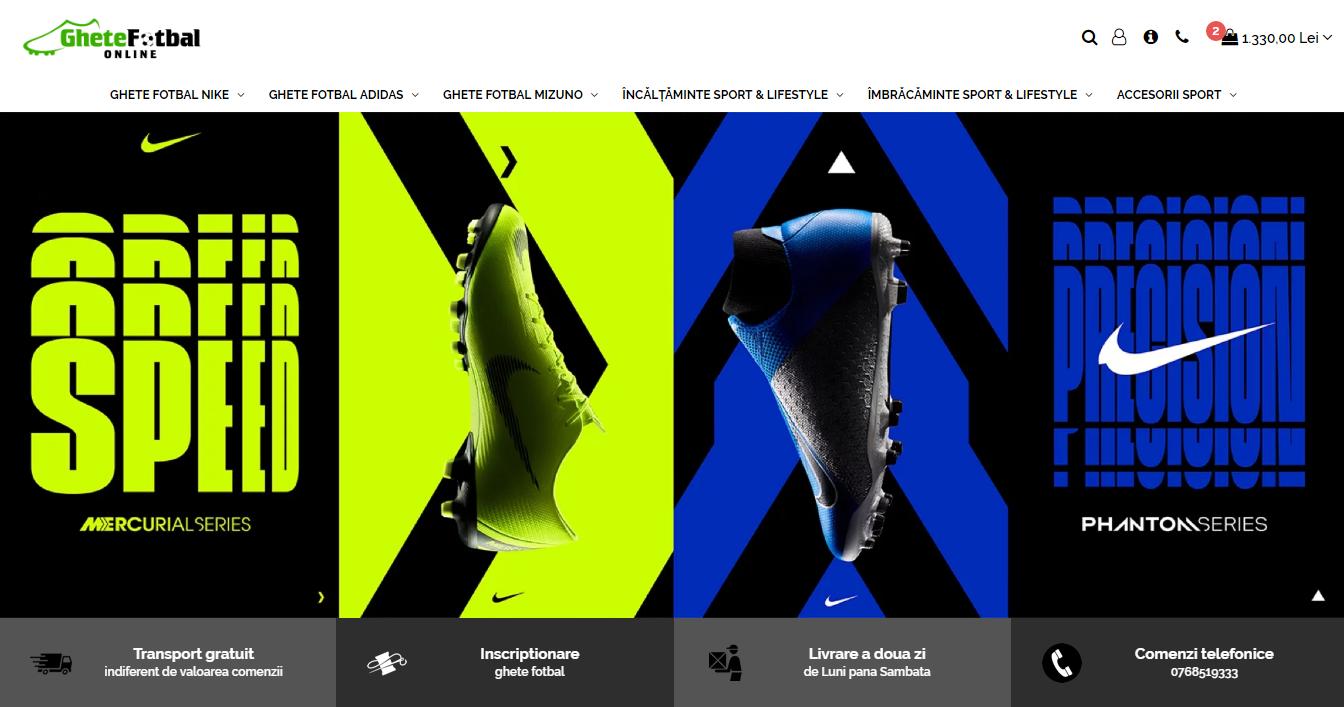 ghete fotbal Nike, Adidas, Mizuno online Iasi Bacau Suceava