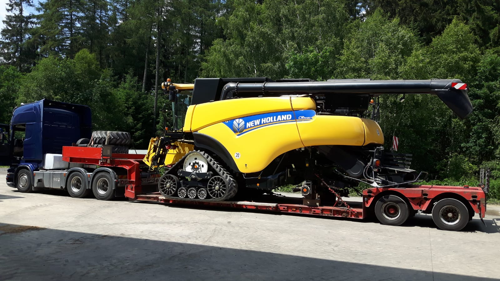 transport combina agricola new holland